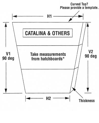 How to measure your catalina boat for replacement companionway doors